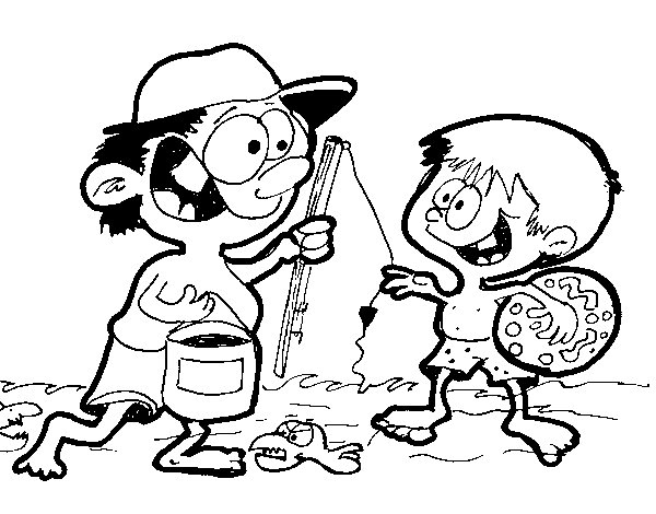 Dibujo de Eze en el río para Colorear