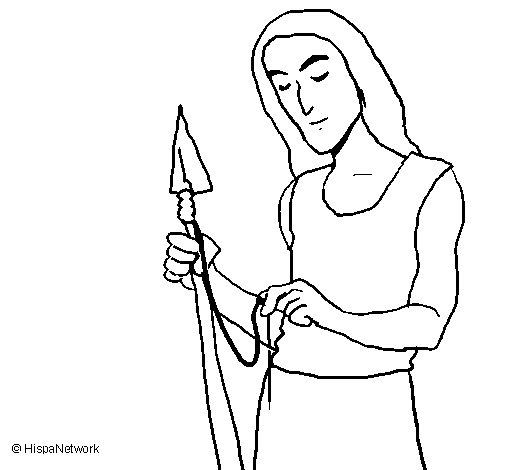 Dibujo de Fabricando armas para Colorear