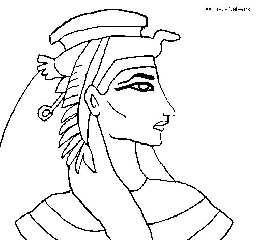 Dibujo de Faraón para Colorear