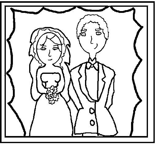 Dibujo de Fotografía de boda para Colorear