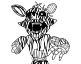 Dibujo de Foxy terrorífico de Five Nights at Freddy's para colorear