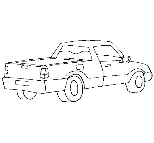 Dibujo de Furgoneta III para Colorear