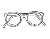 Dibujo de Gafas de pasta redondas para colorear
