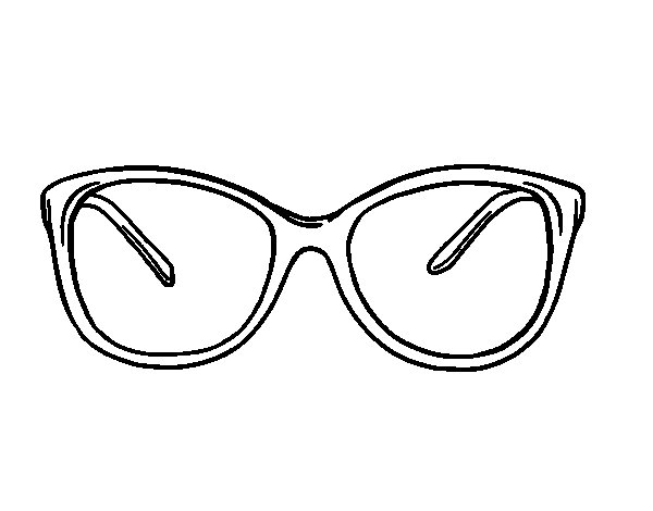 Dibujos De Sol Para Colorear E Imprimir: Dibujo De Gafas Modernas Para Colorear