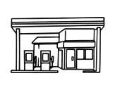 Dibujo de Gasolinera para colorear