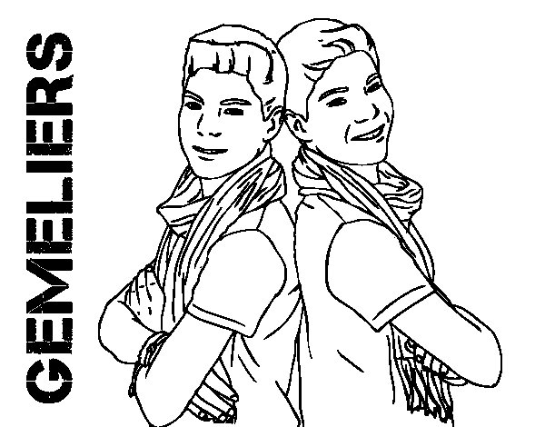 Dibujo de Gemeliers - Jesús y Daniel para Colorear