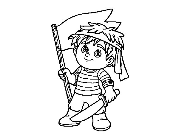 Dibujo de Grumete pirata para Colorear