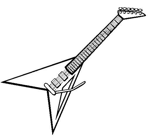 Dibujo de Guitarra eléctrica II para Colorear
