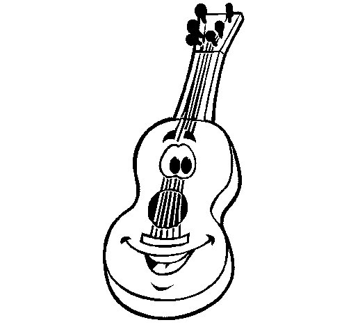 Dibujo de Guitarra española para Colorear