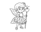 Dibujo de Hada princesa de corazones