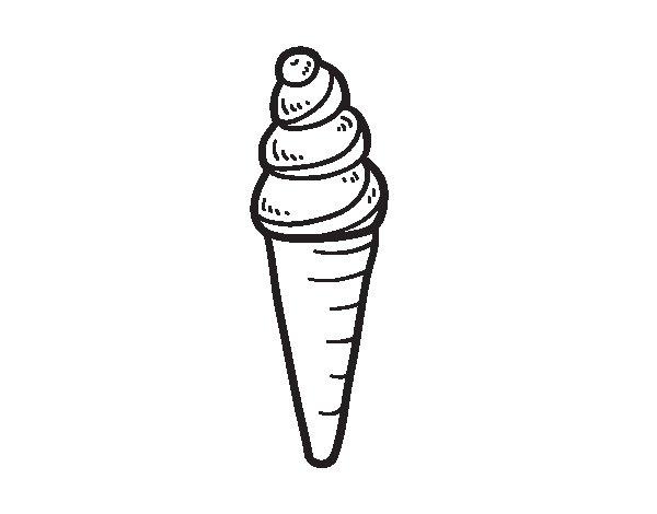 Dibujo de Helado de cucurucho para Colorear