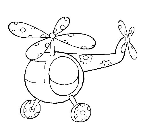 Dibujo De Helicoptero Para Colorear Dibujos De
