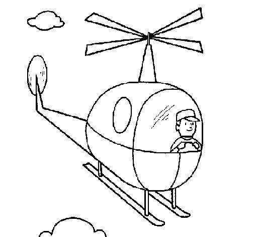 Dibujo de Helicóptero para Colorear