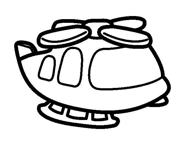 Dibujo de Helicóptero grande para Colorear