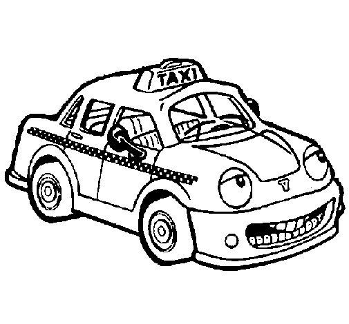 Dibujo de Herbie Taxista para Colorear