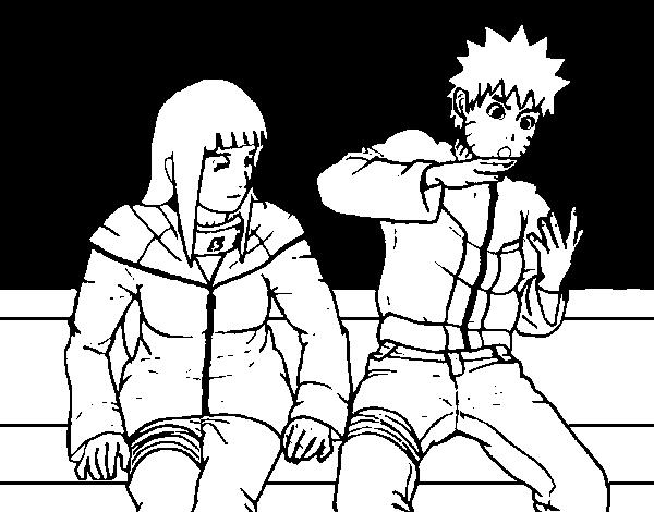 Dibujo de Hinata y Naruto para Colorear  Dibujosnet