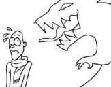 Dibujo de Hombre asustado para colorear