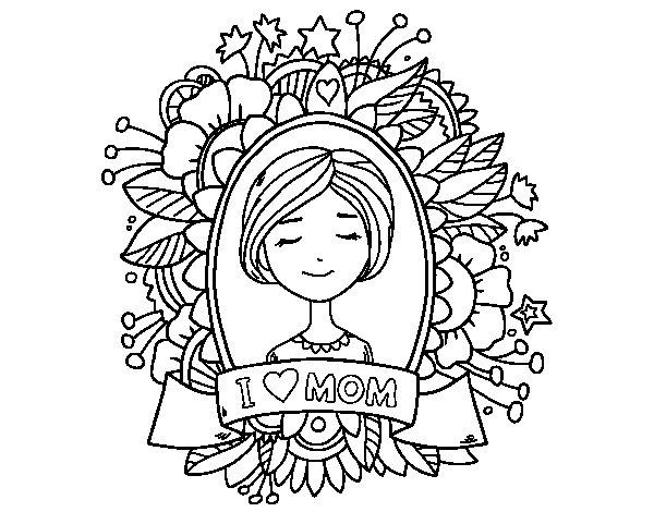 Dibujo de Homenaje a todas las madres para Colorear