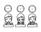 Dibujo de Horarios de comidas para colorear