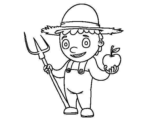 Dibujo de Horticultor para Colorear