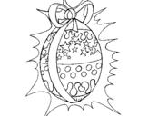 Dibujo de Huevo de pascua brillante para colorear