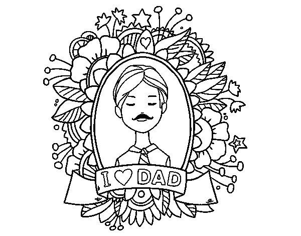 Dibujo de I love Dad para Colorear