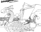 Dibujo de Imaginext 20 para colorear