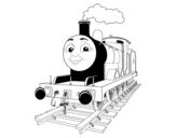 Dibujo de James sobre raíles para colorear