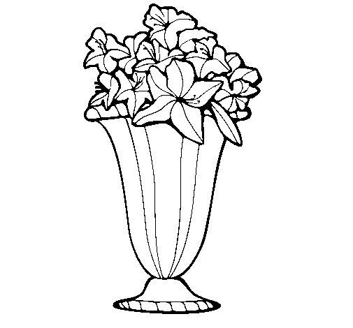 Dibujo de Jarrón de flores 2a para Colorear