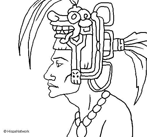 Dibujo de Jefe de la tribu para Colorear