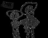 Dibujo de Jessie y Woody
