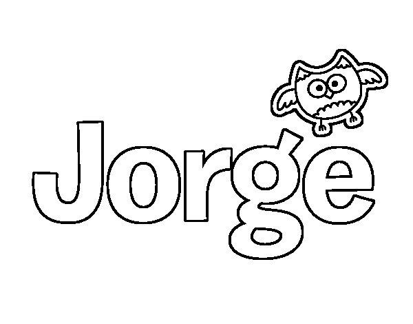 Worksheet. Dibujo de Jorge para Colorear  Dibujosnet
