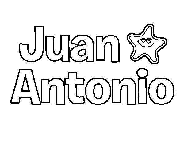 Dibujos Para Colorear San Juan: Dibujo De Juan Antonio Para Colorear