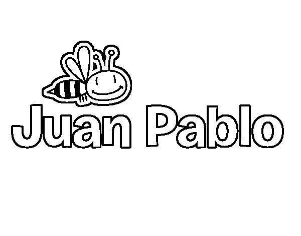 Dibujos Para Colorear San Juan: Dibujo De Juan Pablo Para Colorear