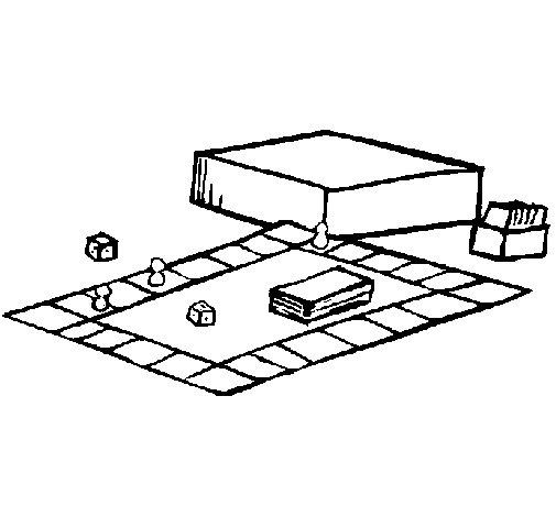 Dibujo de Juego de mesa para Colorear