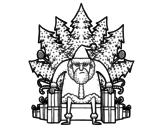 Dibujo de Juego de Tronos de Navidad para colorear