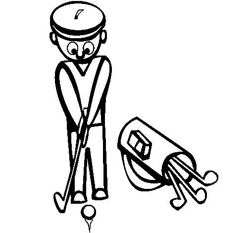 Dibujo de Jugador de golf II para Colorear