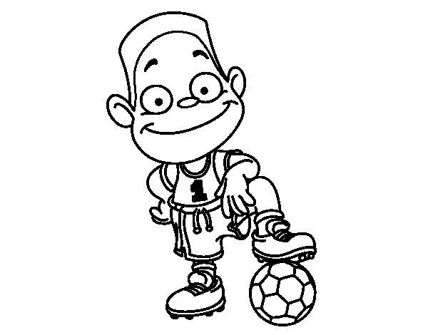 Dibujo Del Numero 1 Para Colorear: Dibujo De Jugador Número 1 Para Colorear
