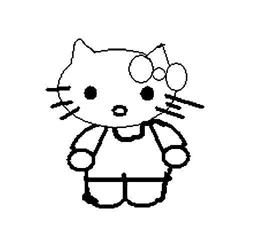 Dibujo de Kitty para Colorear