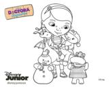 Dibujo de La doctora juguetes y sus amigos para colorear