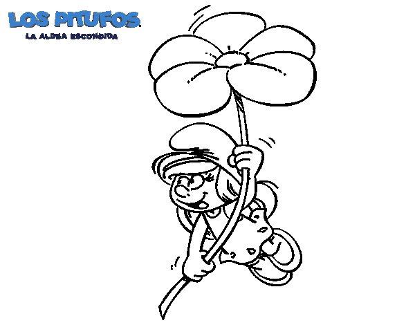 Dibujo de La Pitufina para Colorear