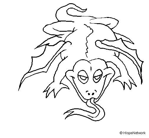 Dibujo de Lagarto mutante para Colorear