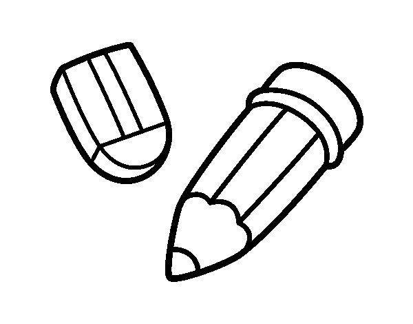 Dibujo de Lápiz y goma para Colorear