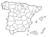 Dibujo de Las provincias de España