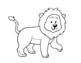 Dibujo de León adulto para colorear