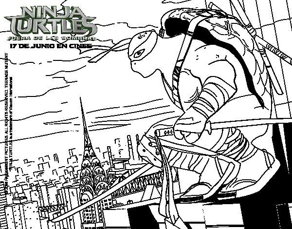 Dibujo de Leonardo de Ninja Turtles para Colorear