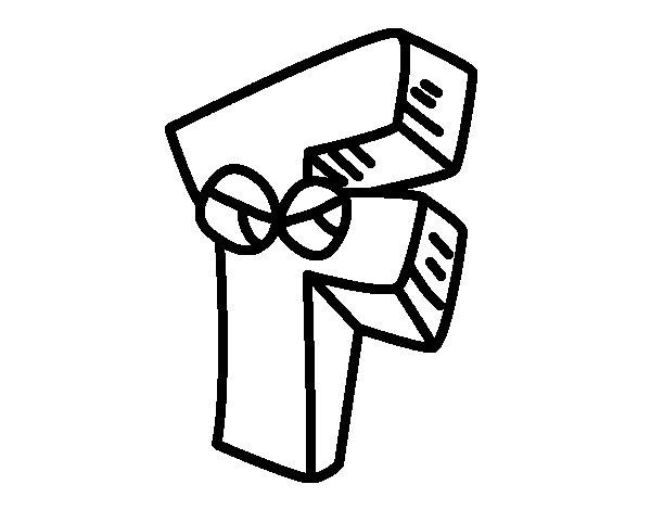 Dibujo de Letra F para Colorear