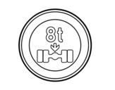 Dibujo de Limitación de peso por eje  para colorear
