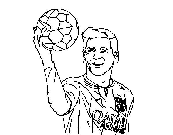 coloring pages sports messi jersey - photo#18