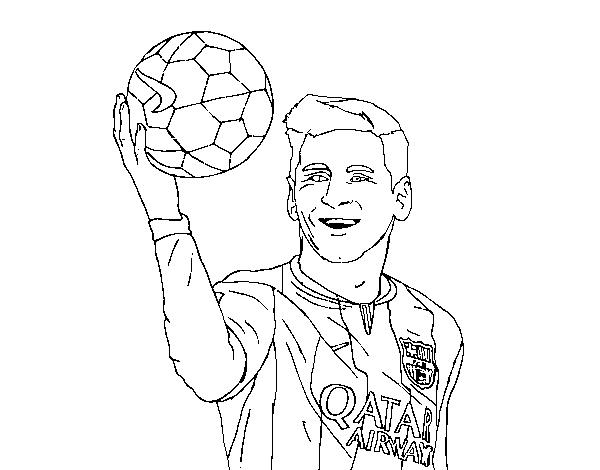 Dibujo de Lionel Messi para Colorear  Dibujosnet